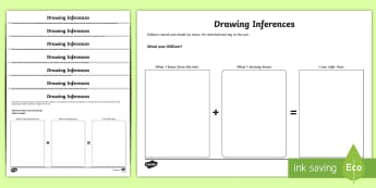 Making Inferences from Text Worksheet / Activity Sheets - Inferences, inferencing, comprehension, reading between the lines, worksheet, worksheets