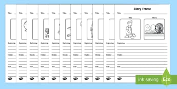 Characters and Settings Writing Frame