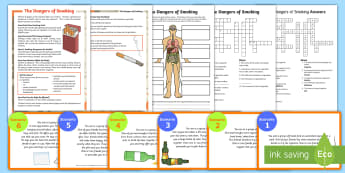 Healthy Lifestyle Choices Activity Pack - safety, wellbeing, medicines, smoking, dangers, science, alcohol, drugs, awareness