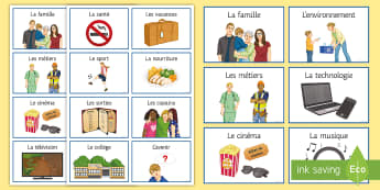 KS4 French Spontaneous Talk Topic Prompt Cards - KS4, French, Speaking, Prompt, Cards, Topic, Spontaneous, talk,French