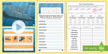 Year 4 Term 2A Week 5 Spelling Pack - Spelling Lists, Word Lists, Spring Term, List Pack, SPaG