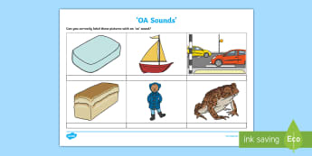 OA Sound Activity Sheet - OA Sound Worksheet - worksheets, worksheet, work sheet, sheets, sounds, OA, oa sound, OA sound, soun