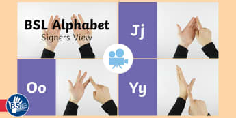 British Sign Language (BSL) Alphabet (Signer's View) Video - learn bsl alphabet, learn bsl, deaf awareness, manual alphabet