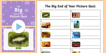 KS1 The Big End of the Year Picture Quiz Pack - close up, image, guess, reasoning, game