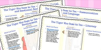the Tiger Who Came to Tea Lesson Plan and Enhancement Ideas EYFS - planning, the tiger who came for tea, lesson plan, lesson plan ideas, lesson ideas, lesson planning, teaching plan