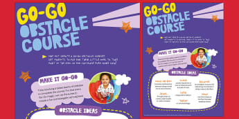 Sport Relief 2018 Nursery Go Go Obstacle Course Event Poster - sports relief, fund raising, sport, raise money, step challenge,