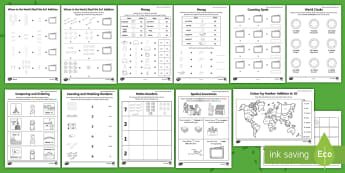 Where in the World Shall We Go? Maths Activity Pack - travel agents, aistear, holiday, travel, counting, Irish