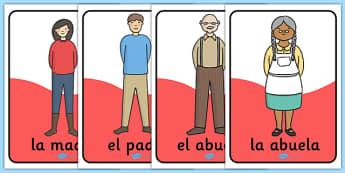 Pósters La familia - padre, madre, hermano, abuelo, parientes, árbol de familia