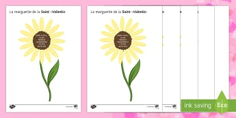 French Loves Me Loves Me Not Daisy Activity Sheets - Valentine's Day, French, 14th February, Saint Valentin, daisy, marguerite, loves me, aime