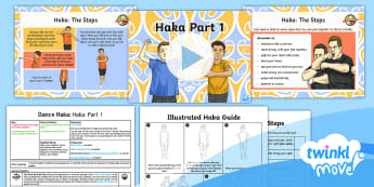 Twinkl Move - Year 5 Dance: Haka Lesson 1 - Haka Part 1 - New Zealand, Rugby, Unison, Movement, Steps.