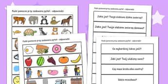 Cwiczenie integracyjne karty komunikacyjne po polsku - teacher , Polish