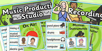 Music Production Studio Role Play Pack-music production studio, role play, pack, role play pack, music production pack, role play activities