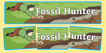 Fossil Hunter Role Play Banner - fossil, role play, dinosaurs