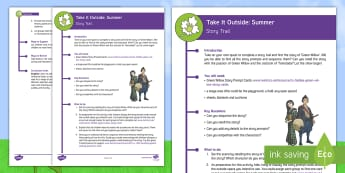 KS2 Take It Outside: Summer - Story Trail Activity - Forest School, Nature Detectives, English, reading, drama, outdoor, woodland learning, twinkl outdoor and woodland learning owl get it