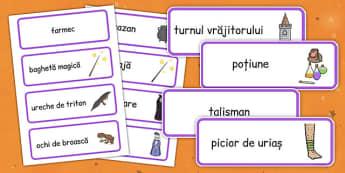 Magie - Cartonașe cu imagini și cuvinte