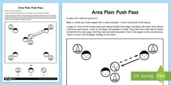 Hockey Push Pass Practice Adult Guidance - Hockey, Push Pass, Passing, KS2