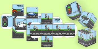 Road Safety Dice Romanian Translation - romanian, road safety, dice, safety, road, activity