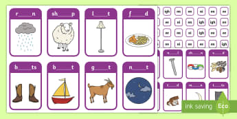 Phase 3 ai, ee, igh, oa and oo Peg Matching Game - Letters And Sounds, Phonics, Assessment, Phonics Screen, Fine Motor