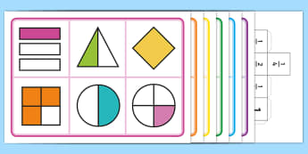Year 2 Fractions Bingo - Year 2, Maths Mastery, Fractions, bingo, half, 1/2, quarter, 1/4, part of,whole, share, divide, divi