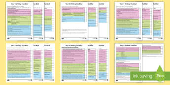 * NEW * Year 1 to 6 Writing Checklist Pack - writing targets, writing assessment, writing checklist, key indicators, performance, English, GPS, S