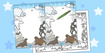 Polar Animals Editable Note - polar, editable, note, animals