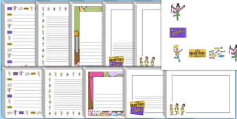 charlie the chocolate factory writing frames and page  page borders to support teaching on charlie and the chocolate factory
