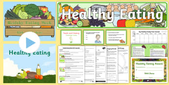 Healthy Eating Week KS2 Resource Pack - food, health, fruit, vegetables, obesity,