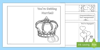 KS1 Royal Engagement Cards - Royalty, Prince Harry, Meghan, Engaged, Marry