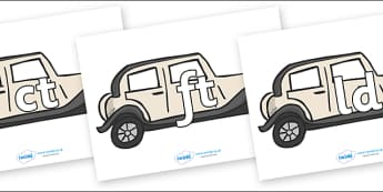 Final Letter Blends on Wedding Cars - Final Letters, final letter, letter blend, letter blends, consonant, consonants, digraph, trigraph, literacy, alphabet, letters, foundation stage literacy