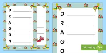 Dragon Boat Festival Acrostic Poem - acrostic poem, dragon boat, dragon, dragon boat race, dragon boat festival