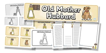Old Mother Hubbard Resource Pack - old mother hubbard, resource pack, pack of resources, themed resource pack, old mother hubbard pack, nursery rhymes