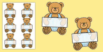 Editable Teddy Bear - Teddy Bear, Teddy Bears, Alphabet frieze, Display posters activity