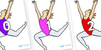 Numbers 0-31 on Ballet Dancers - 0-31, foundation stage numeracy, Number recognition, Number flashcards, counting, number frieze, Display numbers, number posters