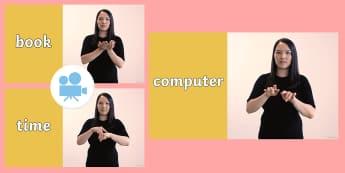 Around School Signs in British Sign Language (BSL) Video - British Sign Language, BSL, Deaf-Friendly, Learn Sign Language, around school, school signs