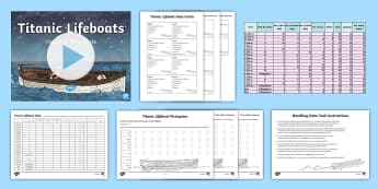 Titanic Lifeboats Data Handling Activity Pack - tables, spreadsheets, passengers, percentages, addition, real life maths, applying, solving, maths m