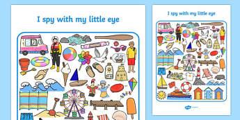Seaside I Spy With My Little Eye Activity - seaside, I spy, activity