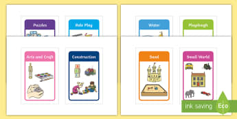 Play Stations for Aistear Early Childhood Curriculum IKEA Tolsby Frame - Play Stations for Aistear Early Childhood Curriculum - signs, display, irish, ireland, role play, ac