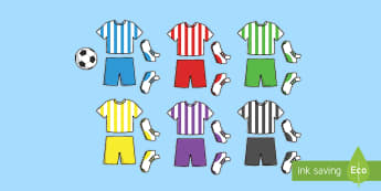 Football Kit Cut Outs - world cup, cutting skills, motor skills