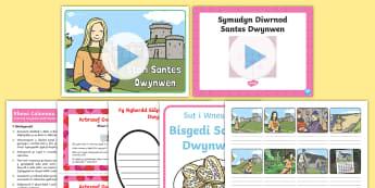 Pecyn Gweithgareddau Diwrnod Santes Dwynwen - dwynwen, ionawr, dathlu, cariad, st dwynwen's day