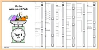 Year 5 Maths Assessment Pack Term 2 - Maths, Assessment, Year 5, pack, term 2