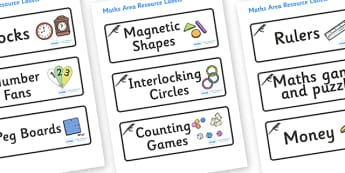 Magpie Themed Editable Maths Area Resource Labels - Themed maths resource labels, maths area resources, Label template, Resource Label, Name Labels, Editable Labels, Drawer Labels, KS1 Labels, Foundation Labels, Foundation Stage Labels, Teaching Labe