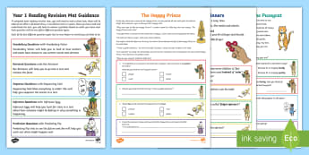 Year 1 Reading (3) Revision Activity Mat Pack - Comprehension, assessment, Fiction, Non-Fiction, poetry