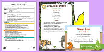 EYFS Dino Rescue Finger Gym Plan and Resource Pack - Dinosaurs, swamp, slime, fine motor control, rescue, tweezers, pincer grip