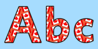 Canada Themed Display Lettering - canada, countries, display