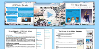 Winter Olympics 2018 Whole School Themed Day Lesson Ideas - PyeongChang, South Korea, Winter Sports, Winter Events, Sporting Events.