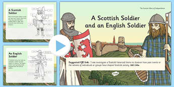 A Scottish Soldier and an English Soldier - scottish, soldier, english