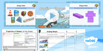 * NEW * PlanIt Maths Y2 Properties of Shapes Lesson Pack Surface Shapes (1)  - Using and applying, problem solving, shape problems.maths mastery, concrete, abstract, pictorial, le
