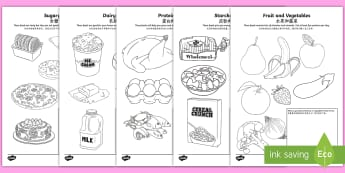 Healthy Eating Colouring Page English/Mandarin Chinese - Healthy Eating Colouring Sheets - healthy eating, food groups, healthy menu,colering,colourng, coulo
