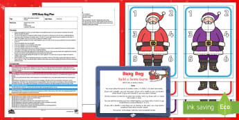 Build a Santa Addition Version Busy Bag Plan and Resource Pack - Planning, eyfs plan, Christmas, Xmas, Santa, Father Christmas, Maths, Number Recognition, Numbers, D