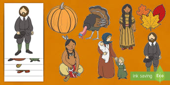 Thanksgiving Cut-Outs - celebrations, thanksgivings, pilgrims, holidays, thanks giving, thanksgving, thanksgivng, traditions
